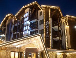 Архитектурно студио Арт Ню Вижън е проектант на хотел АMIRA APARTMENTS & SPA, ГР. БАНСКО