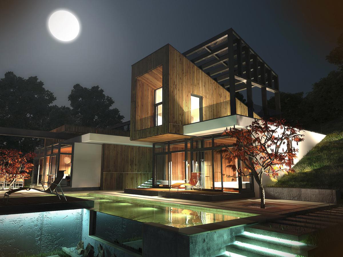Къща с възможност за трансформации на стръмен терен 12