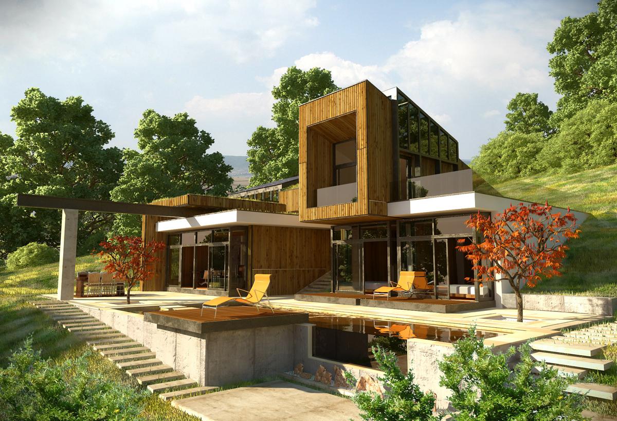 Къща с възможност за трансформации на стръмен терен 10