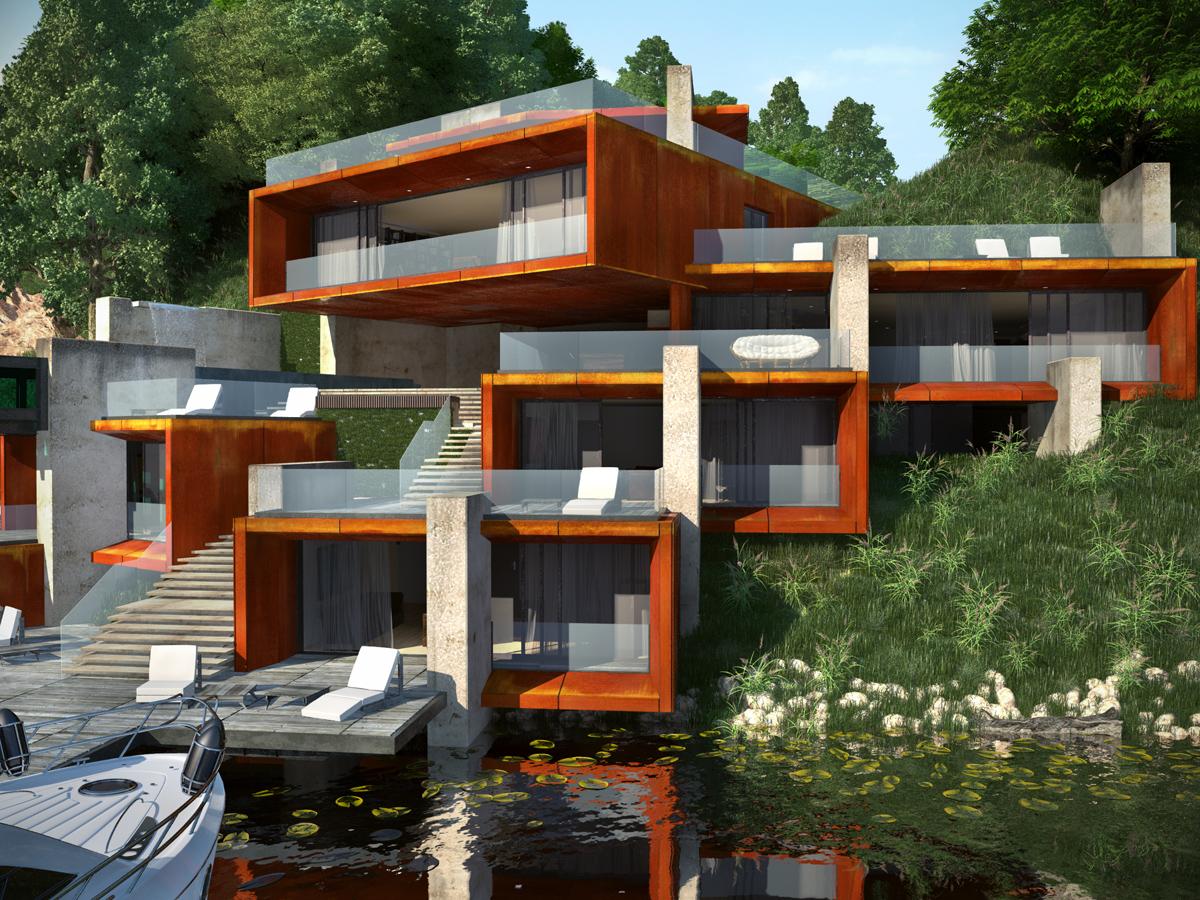 Проект Къща на язовира 4