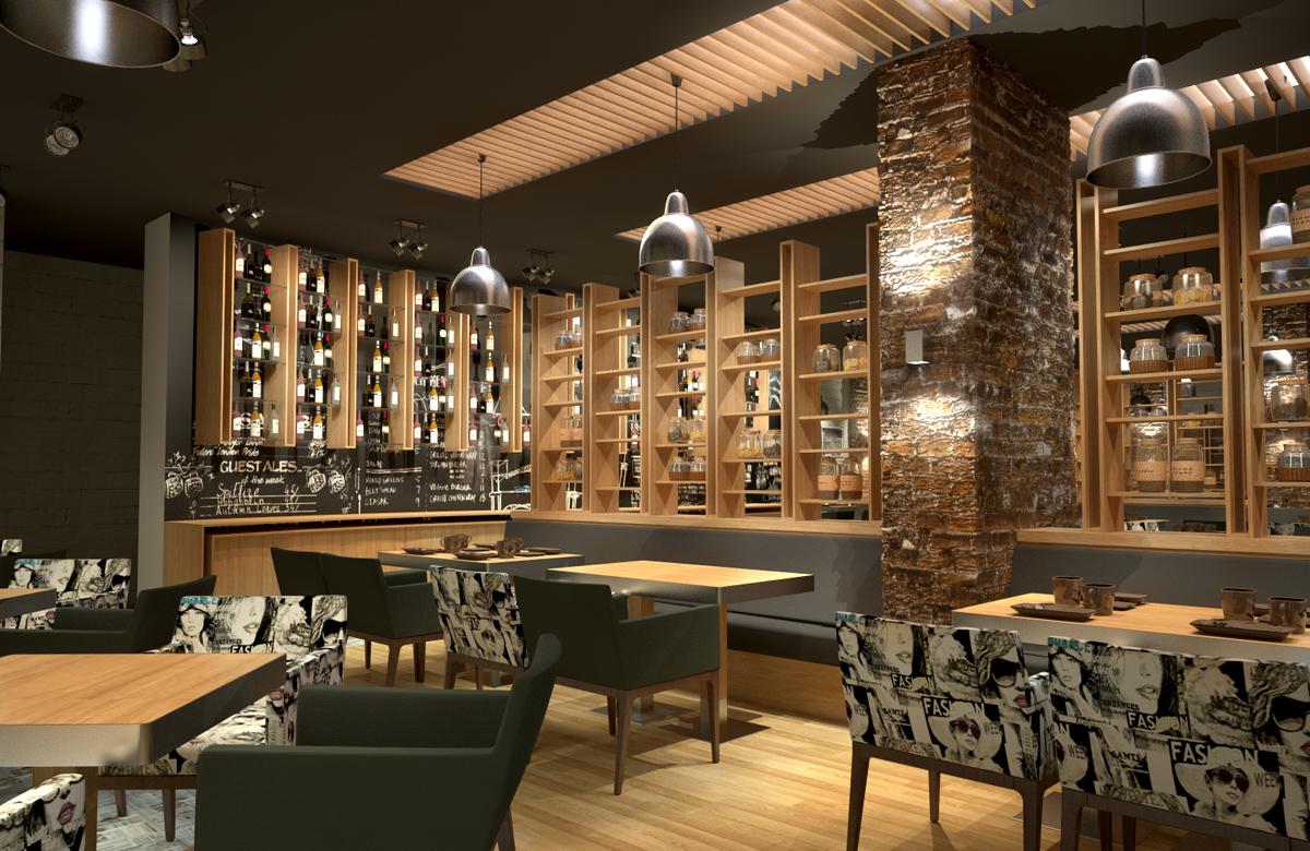 Интериор на Ресторант Дон Домат, Бургас 2