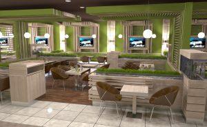 Интериор Food Court, Бургас 4
