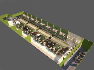 Интериор Food Court, Бургас 2