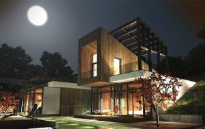 Къща с възможност за трансформации на стръмен терен 1